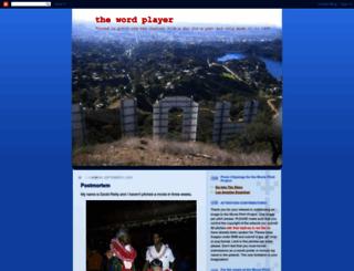 thewordplayer.blogspot.com screenshot