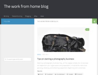 theworkfromhomeblog.com screenshot