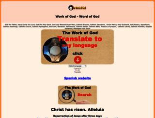 theworkofgod.org screenshot