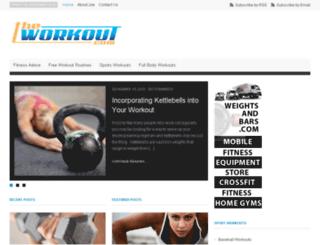 theworkout.com screenshot