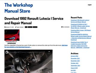 theworkshopmanualstore.com screenshot