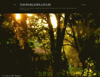 theworld-welivein.blogspot.com screenshot