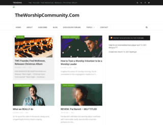 theworshipcommunity.com screenshot