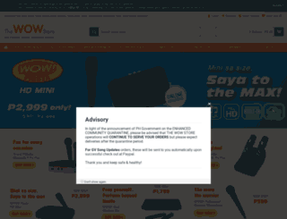 thewowstore.com.ph screenshot