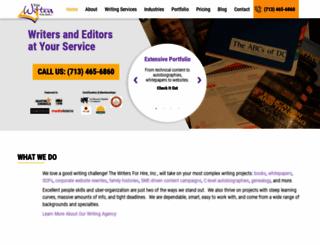 thewritersforhire.com screenshot