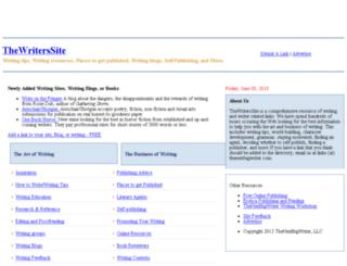 thewriterssite.com screenshot