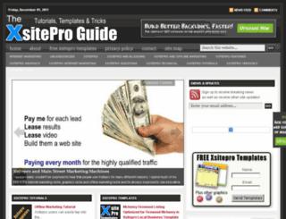 thexsiteproguide.com screenshot