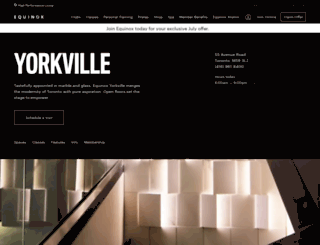 theyorkvilleclub.com screenshot