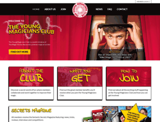 theyoungmagiciansclub.co.uk screenshot