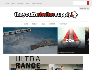 theyouthsheltersupply.com screenshot