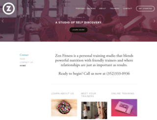 thezenfitness.com screenshot