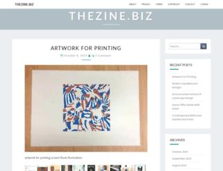thezine.biz screenshot