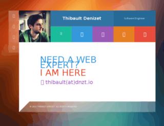 thibaultdenizet.com screenshot