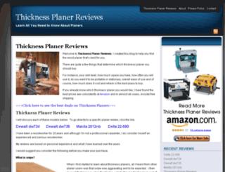 thicknessplanerreviews.com screenshot