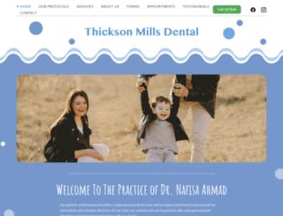 thicksonmillsdental.com screenshot