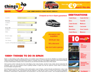 things2dospain.co.uk screenshot