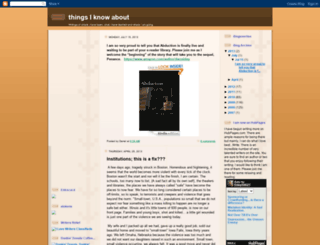 thingsiknowabout.blogspot.com screenshot
