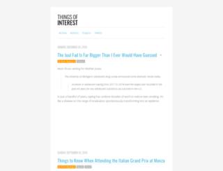 thingsofinterest.com screenshot