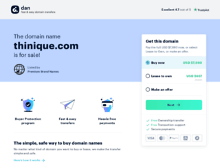 thinique.com screenshot