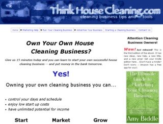 think-house-cleaning.com screenshot