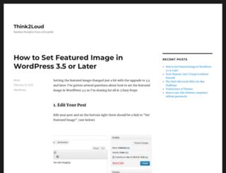 think2loud.com screenshot