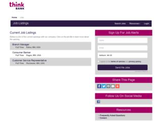 thinkbank.hirecentric.com screenshot