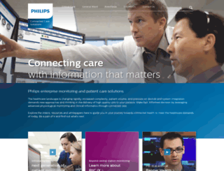 thinkconnectedcare.philips.com screenshot