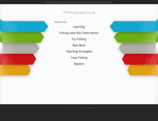 thinkinganglers.co.uk screenshot
