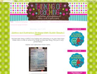 thinkingofteaching.blogspot.ca screenshot