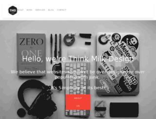 thinkmilkdesign.co.uk screenshot