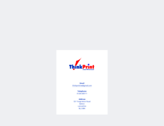 thinkprintnw.co.uk screenshot