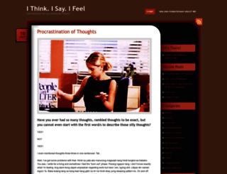 thinksayfeel.wordpress.com screenshot