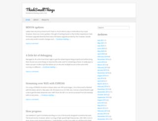 thinksmallthings.wordpress.com screenshot