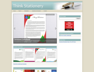 thinkstationery.com screenshot