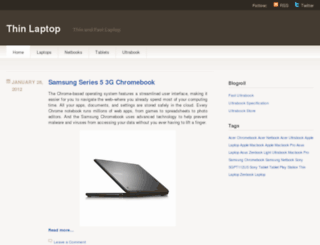 thinlaptop.wordpress.com screenshot