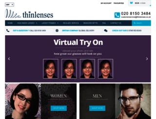 thinlenses.co.uk screenshot