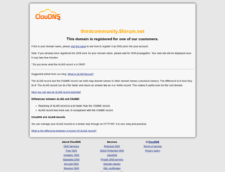 thirdcommunity.5forum.net screenshot
