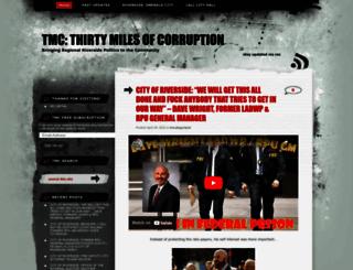 thirtymilesofcorruption.com screenshot