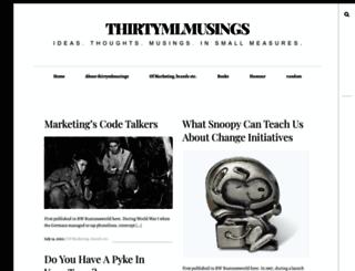 thirtymlmusings.wordpress.com screenshot
