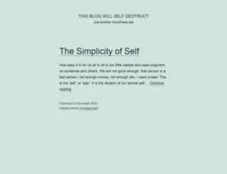 thisblogwillselfdestruct.com screenshot