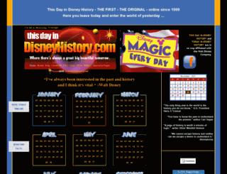 thisdayindisneyhistory.homestead.com screenshot