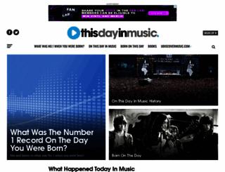 thisdayinmusic.com screenshot