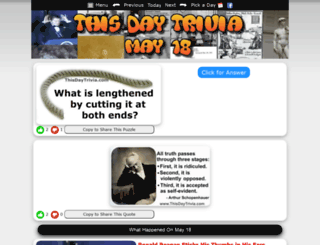 thisdaytrivia.com screenshot