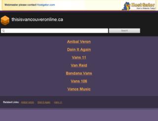 thisisvancouveronline.ca screenshot