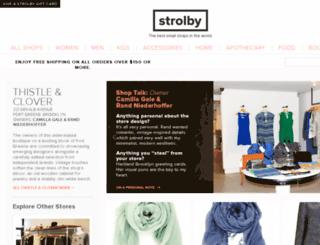 thistleandclover.strolby.com screenshot