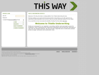 thisway.thistleunderwriting.co.uk screenshot