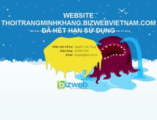 thoitrangminhkhang.bizwebvietnam.com screenshot