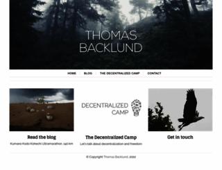 thomasbacklund.com screenshot