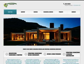 thomasengineers.com.au screenshot