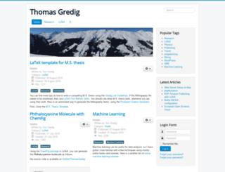 thomasgredig.com screenshot